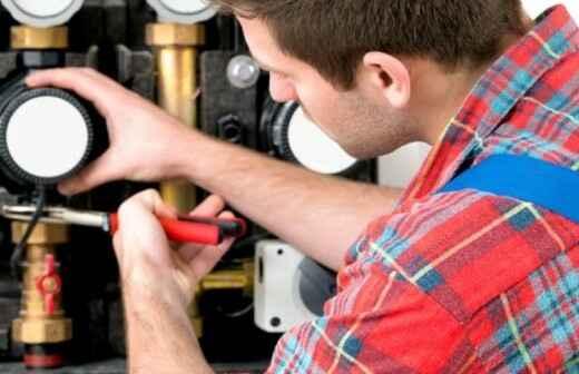 Reparación o inspección del gas