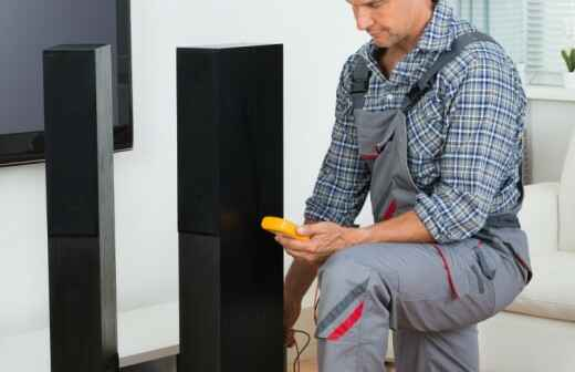 Install, Repair, or Conceal Home Theater System Wiring - Receiver