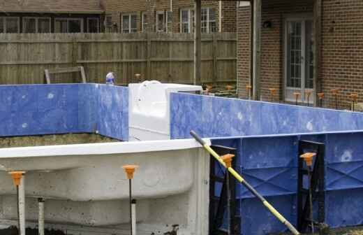 Above Ground Swimming Pool Installation - Plasterers