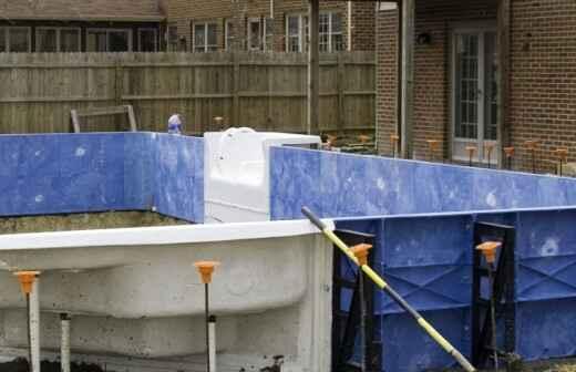 Above Ground Swimming Pool Installation - Replastering