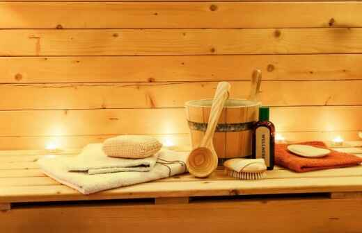 Sauna Installation - Caulking