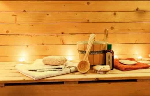 Sauna Installation - Caulking