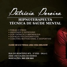 Hipnoterapeuta Clínica Patrícia Pereira - Medicinas Alternativas e Hipnoterapia - Leiria