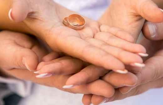Alianças de Casamento - Pedra Preciosa