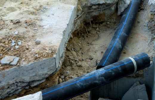 Instalação ou Substituição da Canalização Exterior - Pendurado Na Parede,