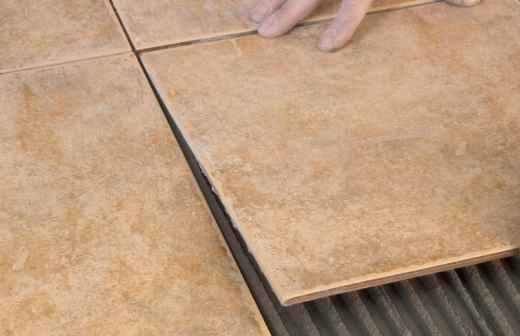 Instalação de Pavimento em Pedra ou Ladrilho - Fino