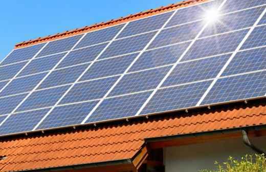 Qual é o preço de serviços para Painéis Solares? Fixando