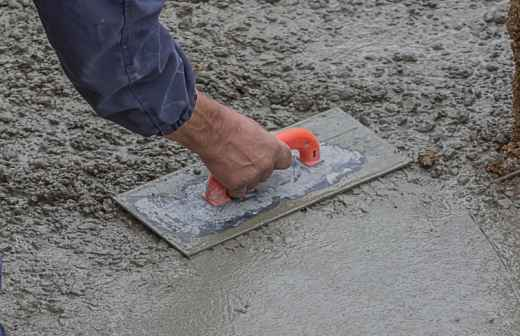 Instalação de Pavimento em Betão - Gravado