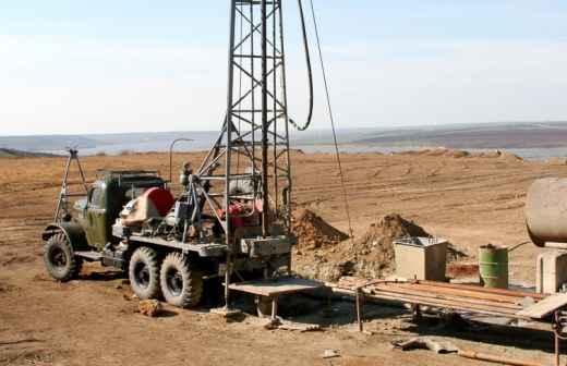 Construção de Poço - Escavadeira