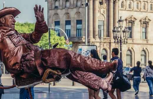 Entretenimento com Homem Estátua - Porto