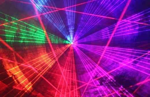 Espetáculo de Laser - Clube Noturno