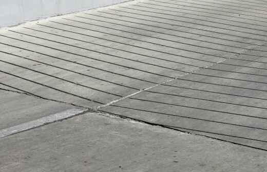 Concrete Driveway Installation - Shuttering